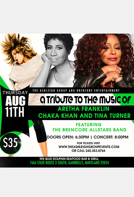 A Tribute to the Music of Aretha Franklin, Chaka Khan and Tina Turner