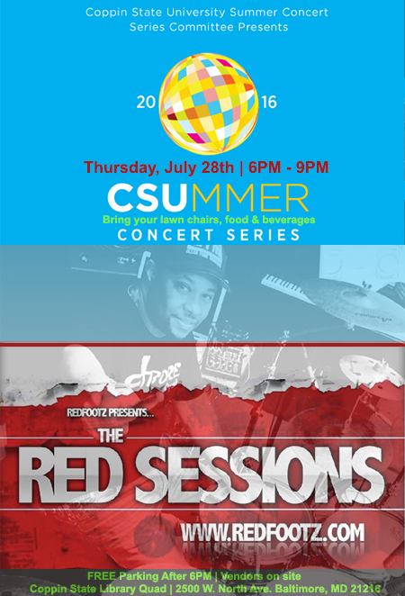 Coppin State Summer Concer Series flyer