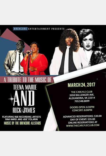 Tribute to the Music of Teena Marie and Rick James